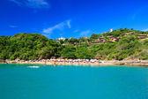 Panoramic view of paradise beach João Fernandinho, Búzios, Brazil — Stock Photo