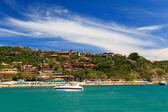 Panoramic view of  beach Joao Fernando, Buzios, Brazil — Foto de Stock