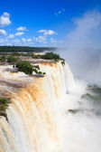 Devil'sthroat of Iguazu falls close, Brazil — Stock Photo