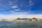 Aterro Flamengo park and beach with Corcovado, Rio de Janeiro — Foto Stock