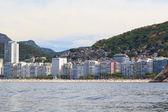 Copacabana Leme beach, favela, Rio de Janeiro — Foto Stock