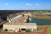 Hydroelectric power station Itaipu Dam, Brazil, Paraguay — Stock Photo