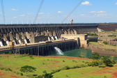Power station Itaipu Dam, Brazil, Paraguay — Stock Photo