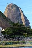 Sugarloaf with fountain, Rio de Janeiro — Stock Photo
