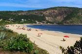 Beach Piratininga people sand sea Niteroi Rio de Janeiro — Stock Photo