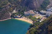 Aerial view red beach (praia vermelha) Rio de Janeiro — Stock Photo
