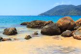 Black sand beach of island Ilha Grande,  Brazil — Stockfoto