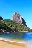 Sugarloaf Red beach (praia Vermelha) Rio de Janeiro, Brazil — Stock Photo