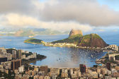 Mountain Sugarloaf in clouds Guanabara bay, Rio de Janeiro — Stock Photo