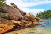 Pedras do caxadaco praia ilha ilha grande, Rio de Janeiro Brasil — Fotografia Stock