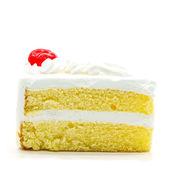 Pasta dilimi izole — Stok fotoğraf