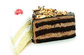 Cake slice isolated — Stock Photo
