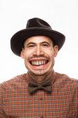 Funny Man Face — Stock Photo