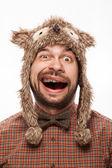 Komik adam yüz — Stok fotoğraf