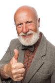 Viejo con una gran barba y una sonrisa — Foto de Stock