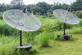 Satellite dish used to transmit signals. — Stock Photo