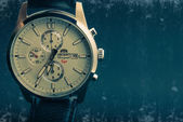 Fashionable Wrist Watch with leather strap — Stock Photo