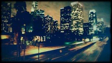 Evening city — Stock Video