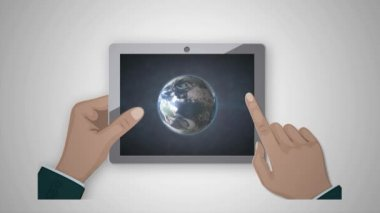 Universe in your plate. This video was created in the program Adobe After Effects — Stock Video
