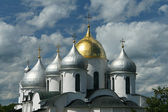 Domes of St. Sophia Cathedral — Stock Photo