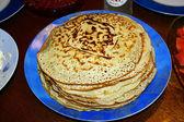 Russian pancakes at Pancake week — Stock Photo