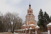 церковь спасителя в уборы, русская зима — Стоковое фото