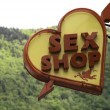 Stockfoto: Sex Shop sign in Brasov Romania