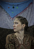 Young woman dressed as a gypsy — Foto Stock