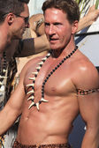 Provincetown, Massachusetts, USA-August 19, 2010: Man walking in the Annual Provincetown Carnival Parade in Provincetown, Massachusetts. — Stock Photo
