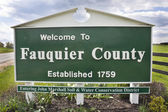 Fauquier County Virginia sign — Stock Photo