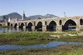 Roman bridge of Ponte de Lima in Portugal — Stock Photo