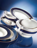 Porcelain dinner set — Stock Photo