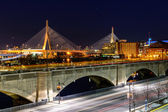 Leonard P. Zakim Bunker Hill Memorial Bridge — Stock Photo