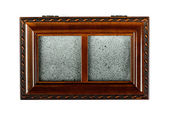Wooden antique brown caskets box — Photo