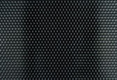 Black Metal Hex Cells Texture — Stock Photo