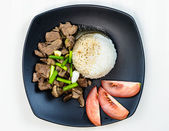 Stir fry beef  — Stock Photo
