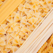 Stock Photo: Spaghetti penne farfalle