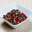 Red, white and black pepper — Stock Photo #40382187