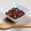 Red, white and black pepper — Stock Photo #40382479