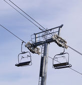 Ski lift , chairlift — Stock Photo