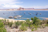 Port for ships and boats in Lake Powell — Stock Photo