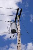 Electrical powered pillar in american city — 图库照片