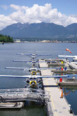 Seaplanes in harbour Vancouver , Canada — Стоковое фото