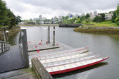 Five rowboats in False Greek, Vancouver , Canada — Stockfoto