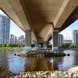 Stock Photo: Foundations of Cambie Bridge spanning False Creek , Vancouve