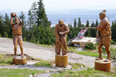 Grouse mountain - Wooden Sportsmen , Vancouver , Canada — Stock Photo