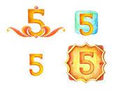 Numer 5 — Zdjęcie stockowe