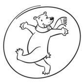 Happy polar bear — Stock Vector