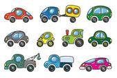 Small cars set — Stock Vector