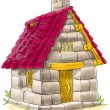 Постер, плакат: Fairy house from Three Little Pigs fairy tale